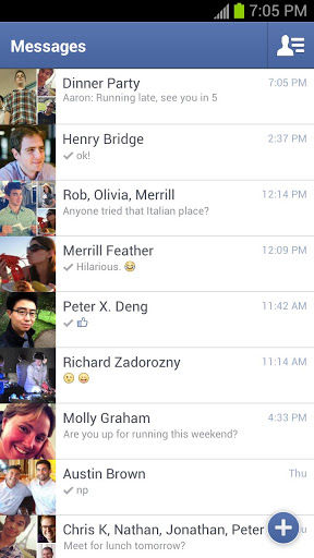new facebook messenger app