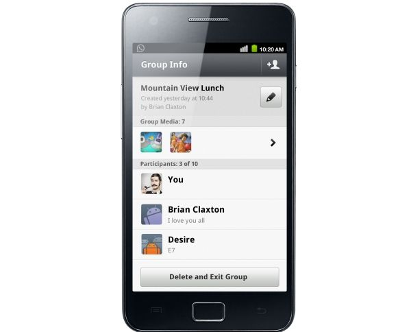 Whatsapp Android Group Info