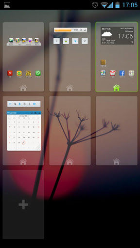 Go Launcher Ex Add home screens