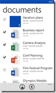 SkyDrive app on Windows Phone