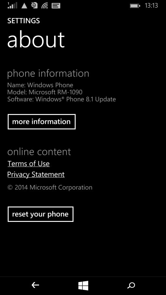 Microsoft Lumia 535_about phone