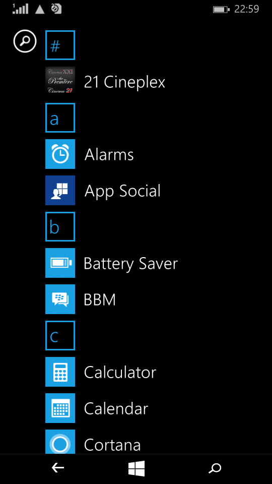 Microsoft Lumia 535_apps