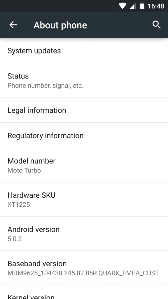 Moto Turbo_about phone
