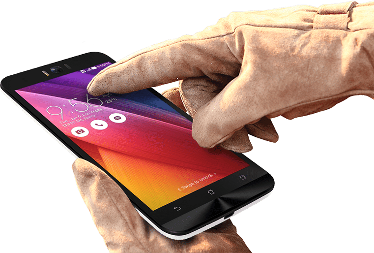 Zenfone2Laser-20 nm Anti fingerprints coating with Glove Touch Support