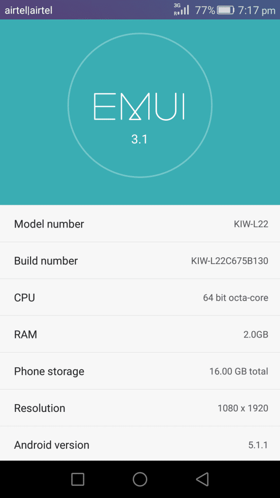 Honor 5X_about phone