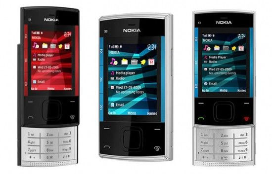 Nokia-X3-00-Silver-Blue-Red