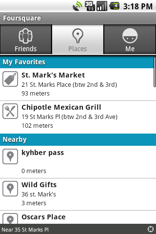 Foursquare-Android-Nearbyvenues