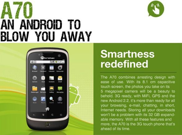 Micromax-Andro-A70-official-launch