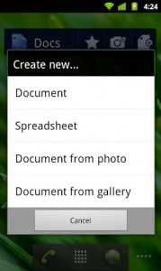 Google-Docs-Android-App