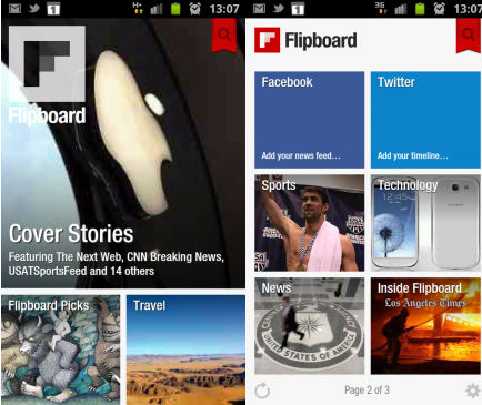 Flipboard Android Features