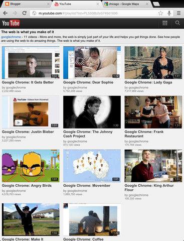 Chrome on iPad