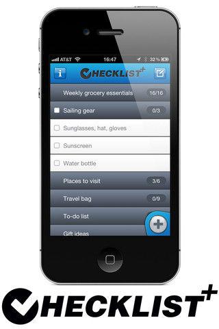 Checklist+ iOS app