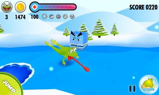 Frog on Ice graphics