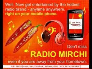 radio mirchi on mobile