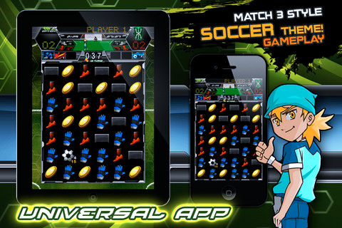 Soccer Puzzle League Game Play