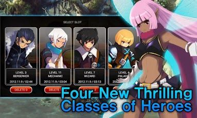 Zenonia 5 Classes of Heroes