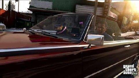 Grand-Theft-Auto-5-Franklin-Dog-Car
