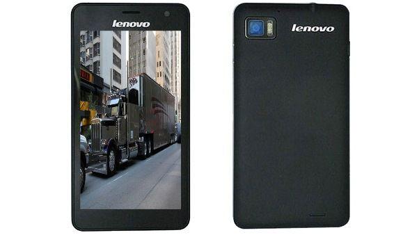 Lenovo IdeaPhone K860 front rear