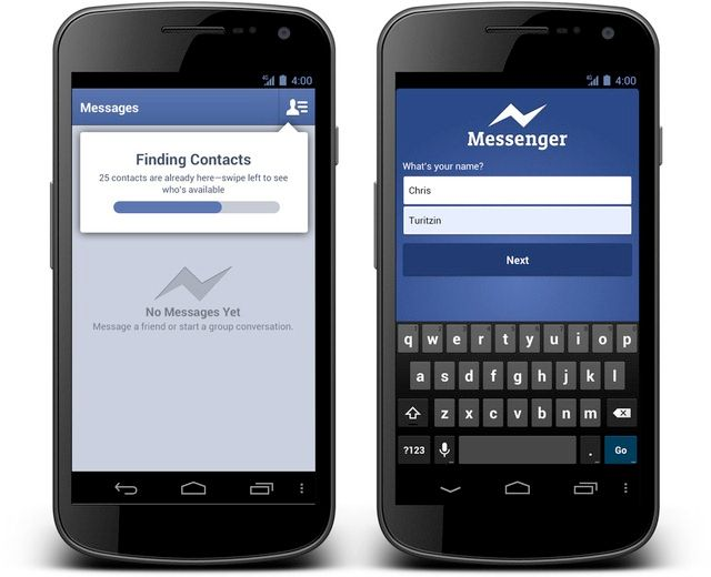 Facebook Messenger App Updated to support Voice Messages