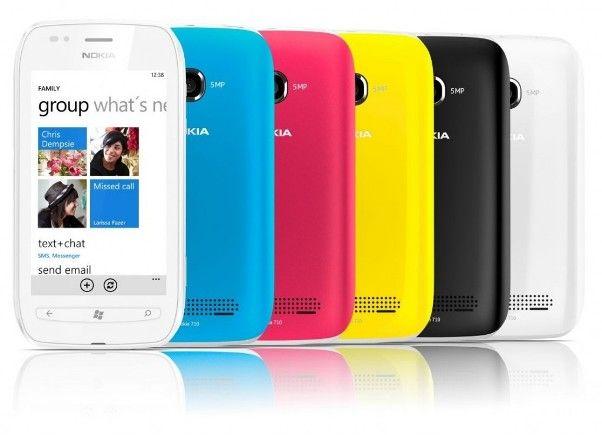 Nokia Lumia 710 colour ranges
