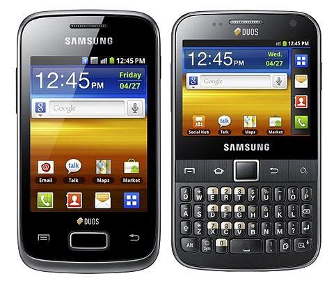 Samsung GALAXY Y Duos and Galaxy Y Pro Duos