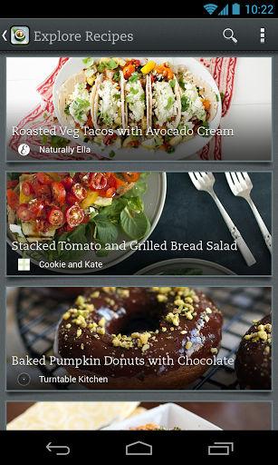 Evernote Food Explore recipies
