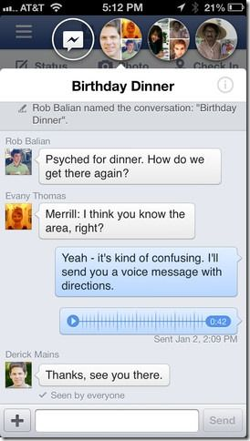 Facebook Chat Heads on iOS