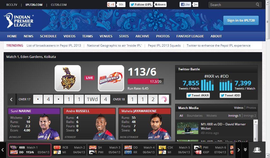 IPL official website