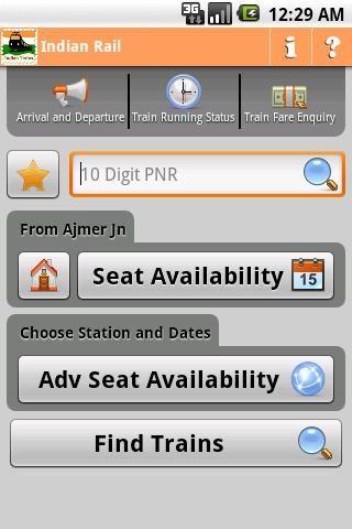Indian Rail Info UI