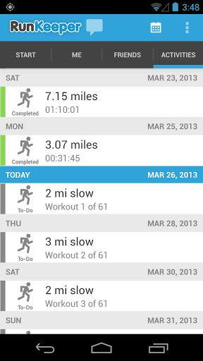 Runkeeper activities