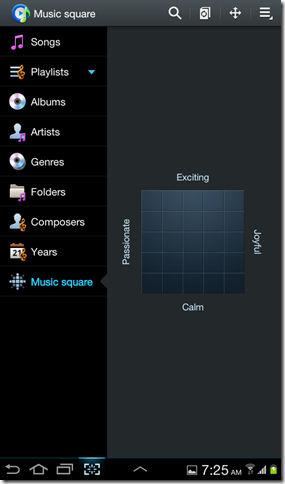 Music square on Galaxy Tab 2