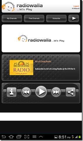 Radiowalla app