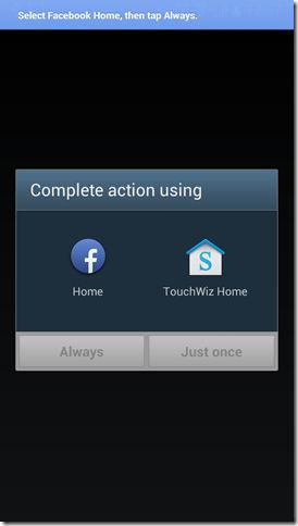 Facebook Home Setup
