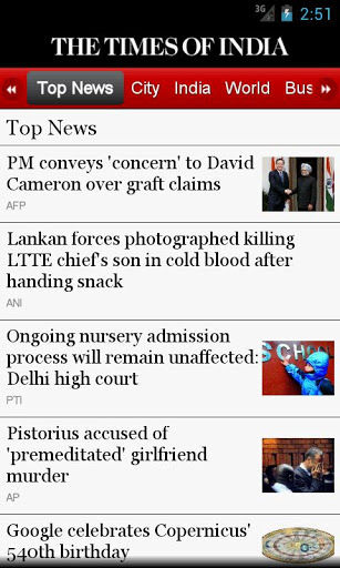 The Times of India UI