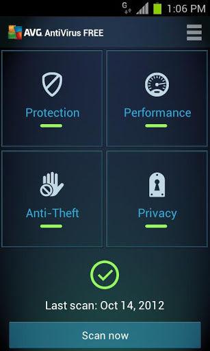AVG Antivirus UI
