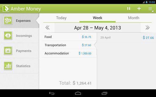 Amber Money Interface