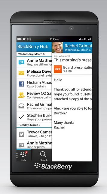 BlackBerry latest OS 10 1 available for Z10 | 91mobiles com
