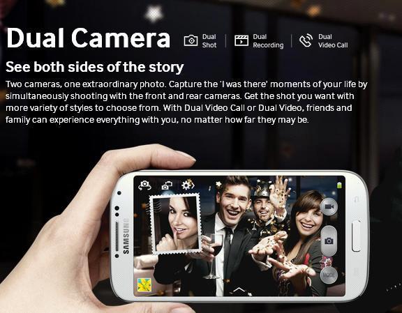 Dual Cameras Galaxy S4