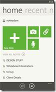 Evernote app on Windows Phone