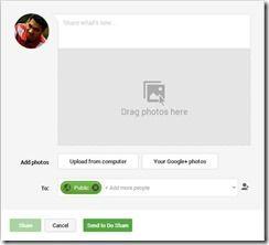 Google+ Sharebox