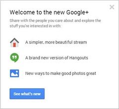 Google + redesign