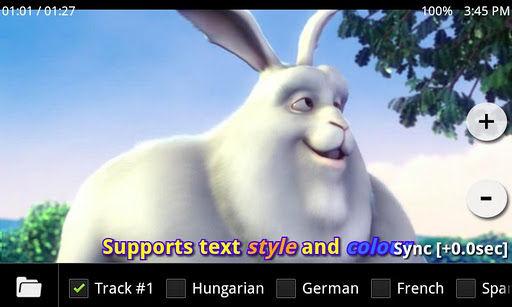 MX Player Subtitle Control