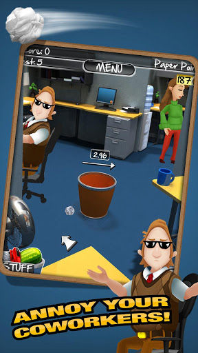 Paper Toss 2.0 Game Play