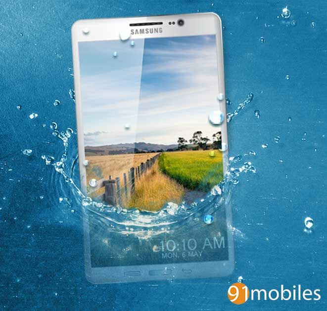 Samsung Galaxy S5-water splash-realistic (1)