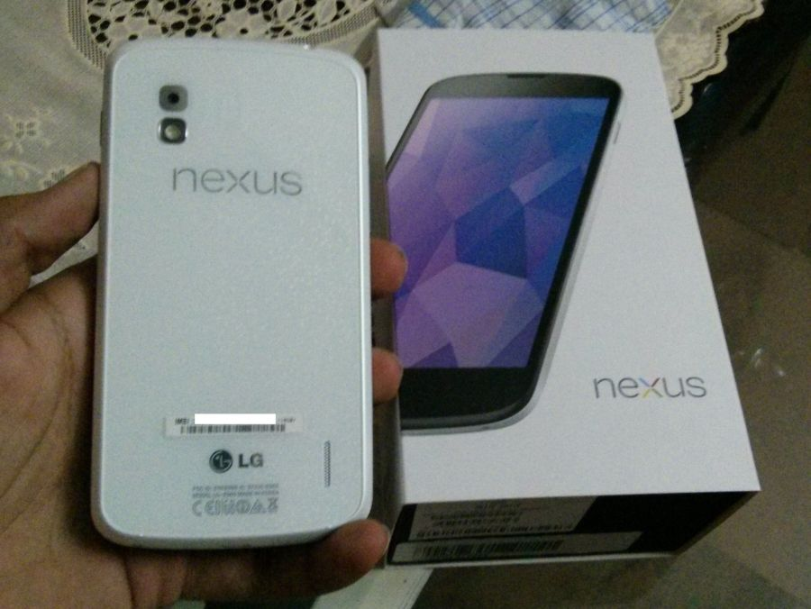 White Nexus 4 Box