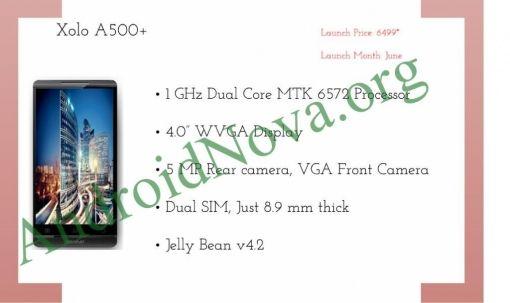 Xolo A500+