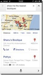 Searching in Google Now for iOS