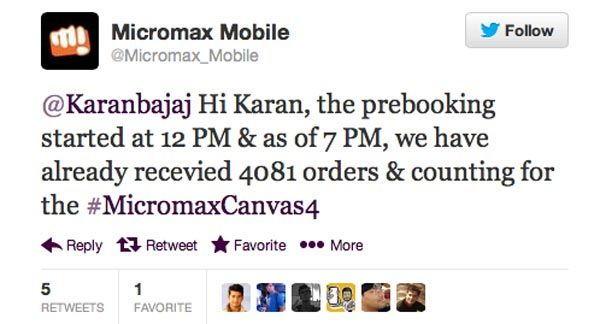 Canvas 4 prebooking orders
