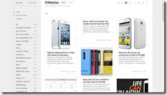 Cards View in Feedly