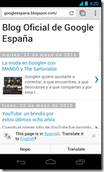 Chrome for Android 3